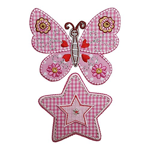 TrickyBoo Mariposa Rosa 7Cm High Círculo del Corazón 7X7Cm