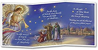 Music of Angels Deluxe Christmas Card Z-fold with Envelope and Xmas Cross Bookmark 5