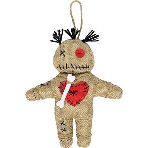 Voodoo Puppe aus Jute Priester Kostümzubehör Rache Ritual Magie Voodoopuppe