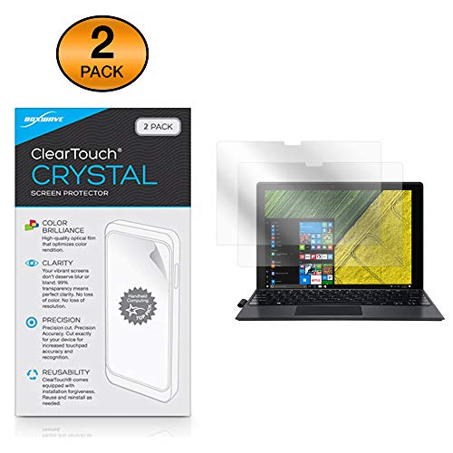 Acer Switch 5 (SW512-52) Screen Protector, BoxWave [ClearTouch Crystal (2-Pack)] HD Film Skin - Shields from Scratches for Acer Switch 5 (SW512-52)