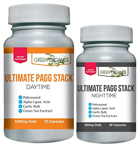 Ultimate PAGG Stack™ 4 Hour Body by Tim Ferriss - Policosanol, Alpha Lipoic Acid, Green Tea Flavonols, Garlic Extract
