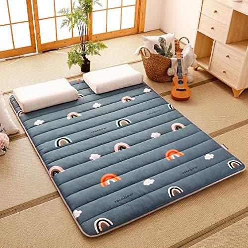 Colchón de futón de Piso Tatami Antideslizante, Colchón de Suelo Portátil Plegable Espesar Japonés, para Home Camping Estudiante Dormitorio 4 estaciones(Color: K,Size:90x200cm)