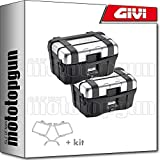 givi portamaletas lateral + maletas lateral trekker trk46n compatible con bmw f 650 gs 2005 05