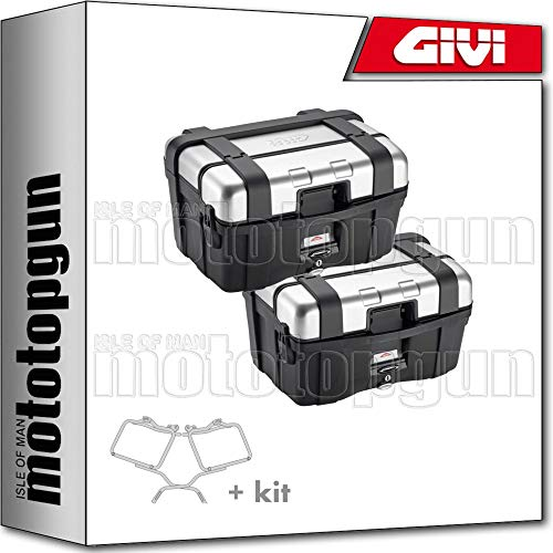 givi portamaletas lateral + maletas lateral trekker trk46n compatible con honda cbf 1000 2007 07