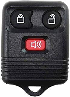 KeylessOption Black Replacement 3 Button Keyless Entry Remote Control Key Fob Clicker