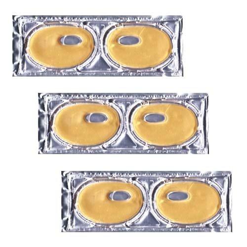 Lot de 3 masques au collagene et à la poudre d'Or AURUM, spécial contours des YEUX