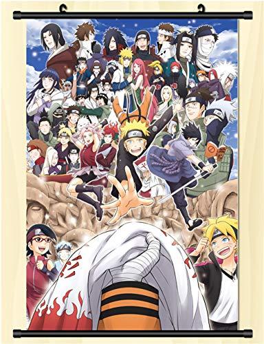 GMANKE Naruto Anime Wall Scroll Poster Tela Pintura,60X90cm