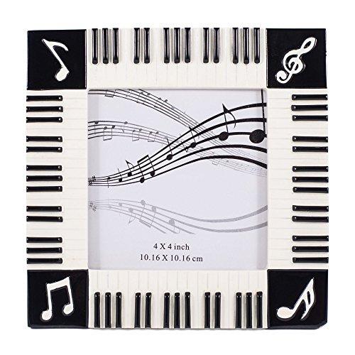 Broadway Gift Piano Tastatur Noten Notenschlüssel Deko 4x 4Bilderrahmen
