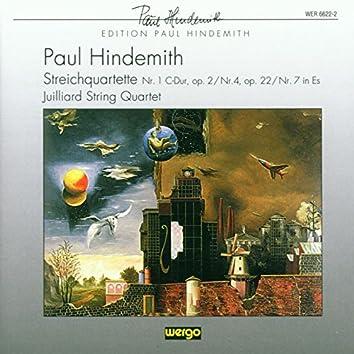 Hindemith: Streichquartett Nr. 1 C-Dur, op. 2 / Streichquartett Nr. 4, op. 22 / Streichquartett Nr. 7 in Es