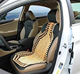 Auto Oprema Bead Car Seat Wooden Cushion Cover pad for Acupressure Sitting in Cream Color (1 pc)