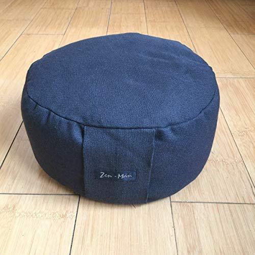 Zen Man Yoga kussensloop, 2 stuks, meditatiekussen, zitkussen zonder vulling, 30 x 14 cm, kussensloop van 50% katoen.