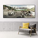 VVSUN HD Retro Racing Car Poster Lienzo Pintura impresión decoración del hogar Cuadro de Arte de Pared para decoración de...