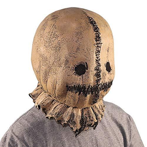Yunbai Halloween Masken for Erwachsene und Kinder Halloween Latex Scarecrow Maske Kopfbedeckungen Verwirren Sie Nicht mit Kindern Masken-Halloween-Horror Hanf Ball Bag Mask (Size : Scarecrow)