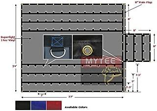 Mytee Products Black Superlight 14oz Flatbed Trailer Lumber Tarp 24x27 (8' Drop)