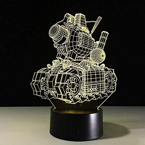 3D-Licht Nachtlampe 3D-Nachtlicht 3D Visual Illusion TanklampeTransparentes Acryl-Nachtlicht LED Fairy Lampa Farbwechsel Touch Table Bulbing Bowl Light mit Fernbedienung