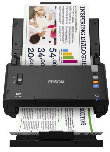 Epson B11B221401 Dokumentenscanner WorkForce DS-560 (600 dpi, WiFi, USB 2.0) schwarz