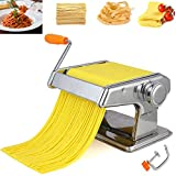 ZCRANK Pasta Maker Machine Stainless Steel Noodle Maker Machine-6 Thickness Settings With Manual Crank, Perfect For Pasta, Lasagna, Linguine, The Great Kitchen Gift Set!