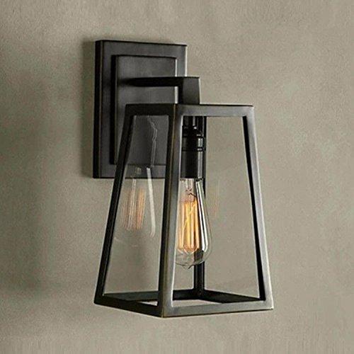 JJZHG wandlamp wandlamp waterdichte wandverlichting creatieve stanggang wandlamp van retro gekleurde glazen kast wandlamp restaurants bevat: wandlamp, stoere wandlampen
