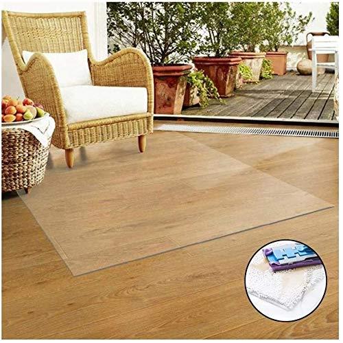 ZWR bureaustoel mat voor hardhouten vloer, PVC Clear bureaublad plastic tafel pad waterdicht non-slip geluid absorberend zacht glas keuken tegels Rolling rolstoel, aanpasbaar
