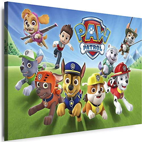 Myartstyle - Bilder Film Cartoons Tiere Kinder Paw Patrol 3 60 x 40 cm LeinWandBilder XXL - 1 Teilige WandBilder Art 3D Modern Kunstdrucke w-a-2042-139