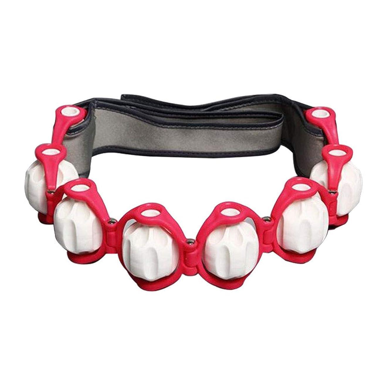 歯痛圧縮するフレームワークPerfeclan ボディマッサージローラー ロープ ショルダー ネック フット マッサージツール 4色選べ - 赤, 説明したように