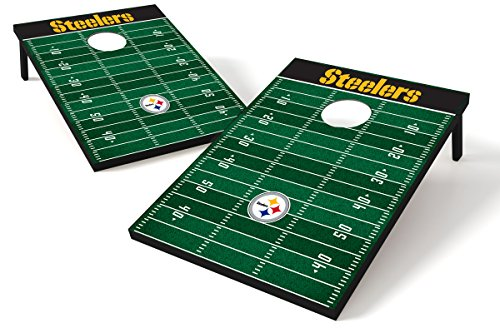 Wild Sports Pittsburgh Steelers NFL Cornhole Outdoor Game Set, 2' x 3' Foot - Recreational Series