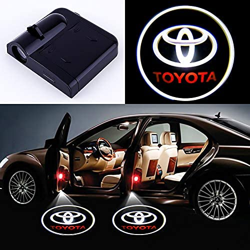 2 pieces of compatible Toyota door marker light projector LED 3D shadow ghost light suitable for Toyota Highlander/Camry/Pruss/Sienna/Tundra/Venza/4 runway puddle light accessories