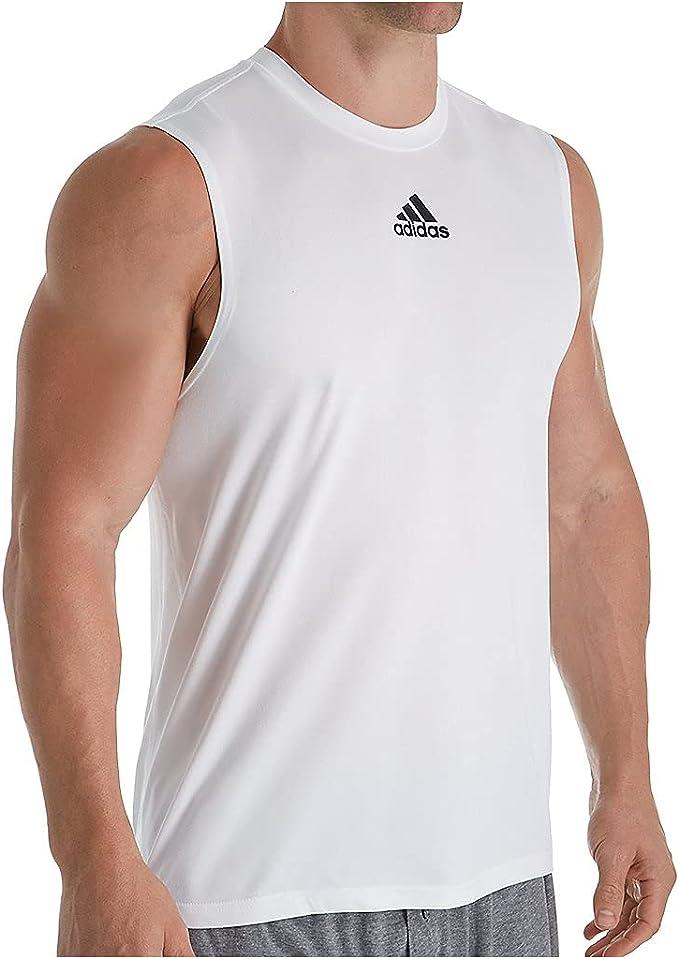 Amazon.com: adidas Men's Climalite Regular Fit Sleeveless T-Shirt ...