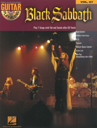 Guitar Play Along Black Sabbath (+CD) con púa – 7 Canciones de Children of The Grave y Paraíso para Canto y Guitarra en notación estándar y tabulado