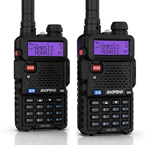 BAOFENG UV-5X (UV-5G) GMRS Radio, GMRS Repeater Capable Two-Way Radio, with NOAA Weather Alerts & Scan, Long Range Rechargeable Handheld Radio, Support Chirp, 1 Pair