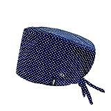 Modelo: AZUR CON SISTEMA CLICK - Pelo Largo -Gorro de Quirófano ROBIN HAT con sistema de sujeción con click - Ajustable - 100% algodón (Autoclave)