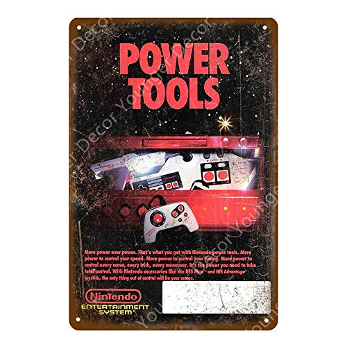 SZLGPJ Power Fight Gaming Poster Vintage Metal Wall Sticker For Kids Room Game Center Decoration Iron Art Painting Plaque Metal Signs 20x30cm YD8020G