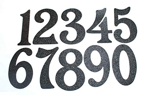 Buy House Numbers - Black Embossed Magnetic - Great for Garage Doors (1)