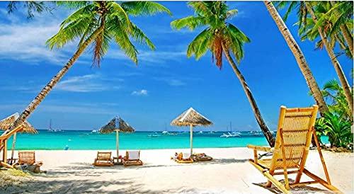 Yqgdss Rompecabezas De Playa Descansando En El Banco para Adultos, 500 Piezas, Ideal para Relajación, Meditación, Pasatiempo, Cumpleaños para Papá, Madre