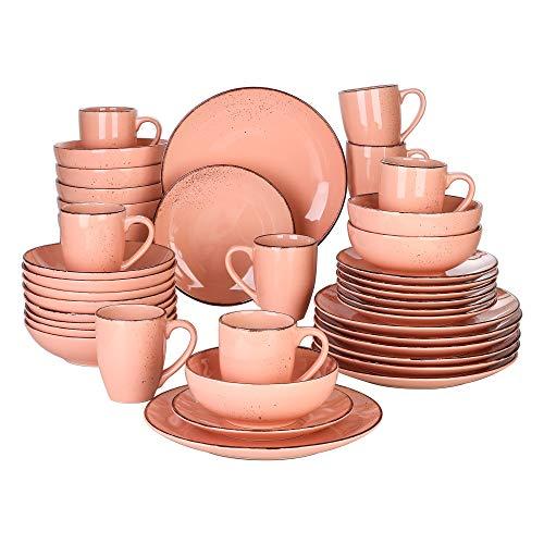 vancasso Serie Navia Jardin Vajillas de 40 Piezas Stoneware Vajillas Completas Gres...