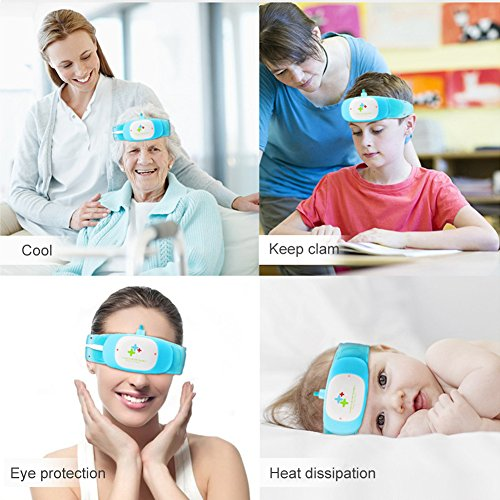 Filfeel Physical Fever Cooling Apparatus, Smart Cold Apparatus Fever Tools for Kids and All Ages to Reducer Cold Eye Mask Brain-Protect & Care Fastest Technology Pads FDA & CE & RoHS Authenticated