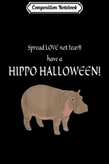 Composition Notebook: SPREAD LOVE HIPPO COSTUME Journal/Notebook Blank Lined Ruled 6x9 100 Pages