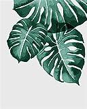 Pintura de diamante completo plantas verdes en maceta mosaico de diamantes bordado punto de cruz decoración del hogar A12 50x65cm