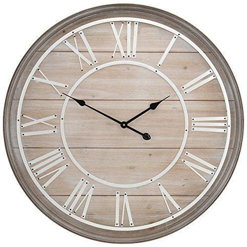 AC-Déco - Orologio da parete, in legno, diametro: 80 cm