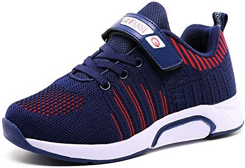 Zapatillas de Niñas 25 Zapatillas de Correr Niños Deportivas Zapatos de Running Niño Ligeras Zapatos de Walking Niña Transpirable Sneakers Baloncesto Zapatillas y Calzado Deportivo Azul Blue