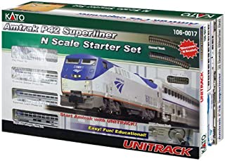 Kato USA Model Train Products N Amtrak P42 Superliner Phase IVb Starter Set