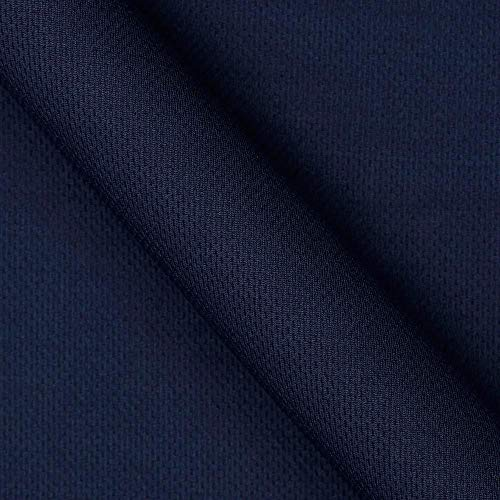 Textile Creations Athletic Mesh Knit Navy Fabric By The Yard
