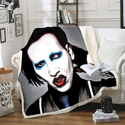 LIFUQING Sängerin Marilyn Manson (Marilynmanson) Quilt Adult Futon Decke Yoga Adult-150X200Cm