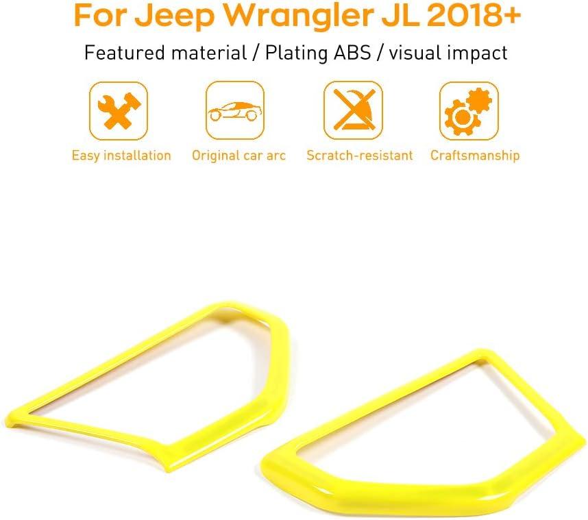 Green JeCar Interior Accessories A Pillar Speaker Decoration Trim Cover Stickers for 2018-2020 Jeep Wrangler JL JLU JT