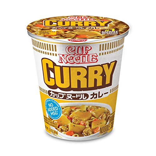 Nissin Cup Ramen Noodle Soup, Curry, 2.82 Ounce (Pack of 6)