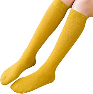Pila de Calcetines Mujer Color Sólido Uniforme Media Pierna Pantorrilla Calcetines Japoneses Lindos Calcetines Universidad Viento Rodilla de Tubo Largo Calcetines del Estudiante