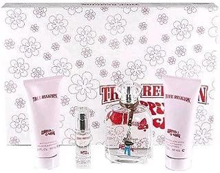 TRUE RELIGION HIPPIE CHIC by True Religion Gift Set for WOMEN: EAU DE PARFUM SPRAY 3.4 OZ & SHIMMERING BODY LOTION 3 OZ & SHOWER GEL 3 OZ & EAU DE PARFUM SPRAY .25 OZ MINI