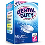 120 Retainer and Denture Cleaning Tablets (4 Months Supply) - Cleaner Removes Bad Odor, Plaque, Stains from Dentures, Retainers, Night Guards, Mouth Guard, and Removable Dental Appliances. Made In USA