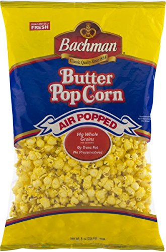 Best Buy! Bachman Air Popped Butter Popcorn 8 oz. Bag (6 Bags)