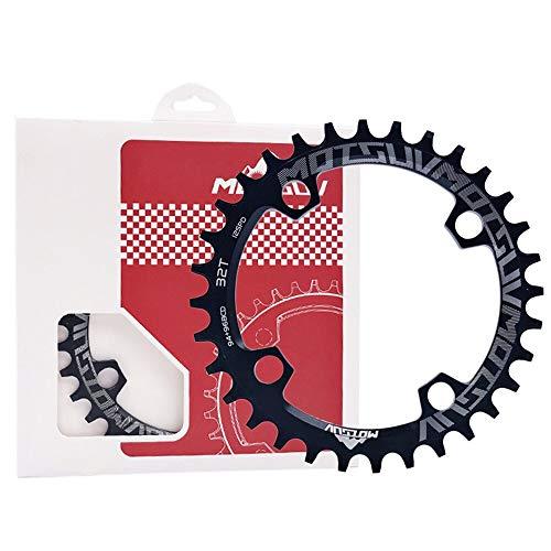 GHMOZ Deporte al Aire Libre MOTSUV Bicicletas 94 / 96MM cigüeñal 32/34/36 / 38T Chainwheel Redonda/Oval 94 / 96BCD MTB Chainring for Alivio M4000 M4050 SramNX GX manivela X1 (Color : Round 32T Black)